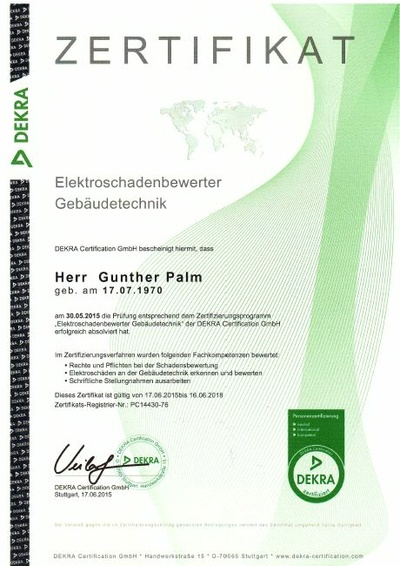Gunther Palm ist bei Palm Elektroservice in Altenburg